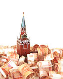 Moscow Kremlin on the money Royalty Free Stock Photos