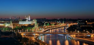 The Moscow Kremlin at morning Royalty Free Stock Photography