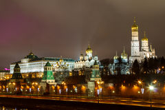 Moscow,the Kremlin,Moscow at night Stock Photo