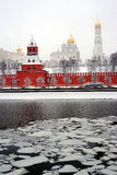 Moscow Kremlin and Moscow river embankment Royalty Free Stock Photos