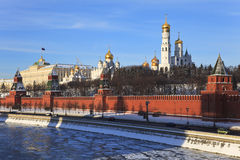Moscow Kremlin and Moscow river. Russia. Royalty Free Stock Images