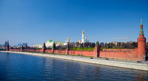 Moscow Kremlin and Moscow river Stock Images