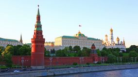 Moscow Kremlin, Moscow, Russia. View of the center of Moscow - Moscow Kremlin. The name `Kremlin` means `fortress inside a city`.n