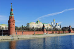 Moscow Kremlin and Moskva River Stock Image