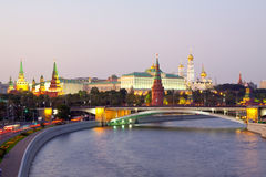 Moscow Kremlin  and   Moskva River Stock Photos