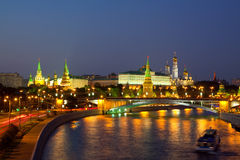 Moscow Kremlin  and   Moskva River Stock Photography