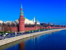 Moscow Kremlin and Moskva River, Russia Stock Photography