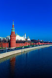 Moscow Kremlin and Moskva River, Russia Royalty Free Stock Photos