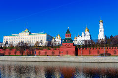 Moscow Kremlin and Moskva River, Russia Royalty Free Stock Photo