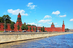 Moscow Kremlin and Moskva River royalty free stock images