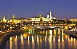 Moscow, Kremlin at night Stock Images