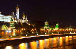 Moscow Kremlin in night Stock Image