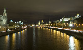 Moscow, Kremlin at night Royalty Free Stock Photos