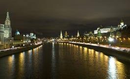 Moscow, Kremlin at night Royalty Free Stock Photos