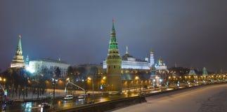 Moscow, Kremlin at night Royalty Free Stock Photography