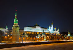 Moscow Kremlin at night, Stock Photo