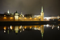 Moscow Kremlin at night Stock Image