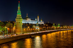 Moscow Kremlin at night Royalty Free Stock Photography