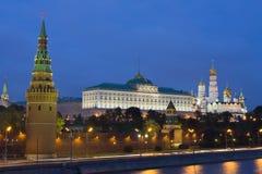 Moscow, Kremlin at night Royalty Free Stock Images