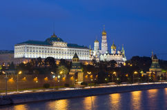 Moscow, Kremlin at night Stock Photos
