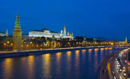 Moscow, Kremlin at night Royalty Free Stock Images