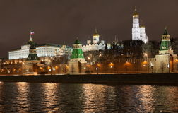 Moscow Kremlin at night. Moscow. Russia Royalty Free Stock Images
