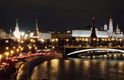 Moscow Kremlin at night. Royalty Free Stock Photo