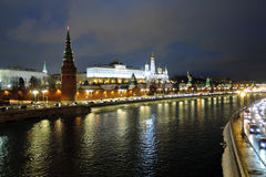 Moscow Kremlin at night. Stock Photo