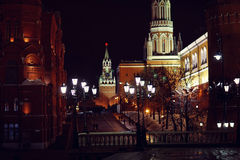 Moscow Kremlin night Stock Images