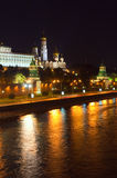 Moscow Kremlin in night. Russia Royalty Free Stock Image