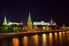 Moscow Kremlin in night. Russia Royalty Free Stock Photo