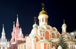 Moscow Kremlin by night, Russia Stock Images