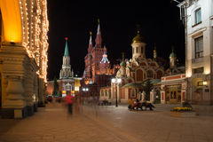 Moscow Kremlin by night,  Royalty Free Stock Images