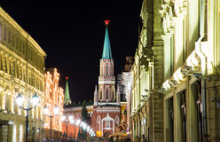 Moscow Kremlin by night,  Stock Photo