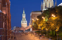 Moscow Kremlin by night, Russia Stock Photography