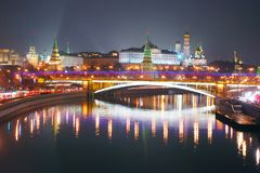 Moscow Kremlin. Night scene. Royalty Free Stock Images