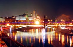 Moscow Kremlin. Night scene. Royalty Free Stock Photography