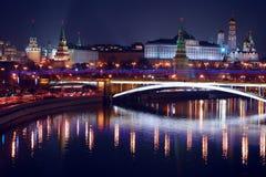 Moscow Kremlin. Night scene. Stock Photography