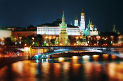 Moscow Kremlin at night. Stock Photos