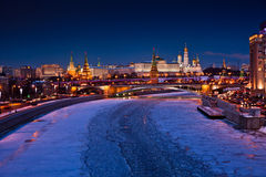 Moscow Kremlin night view Stock Images