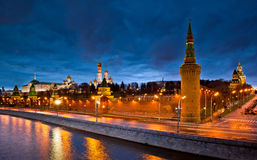 Moscow Kremlin night view Royalty Free Stock Photo