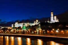 Moscow Kremlin night view Royalty Free Stock Photos