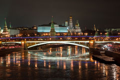 The Moscow Kremlin at night. Stock Images