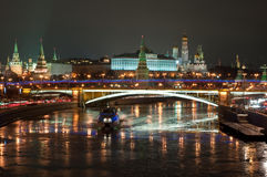 The Moscow Kremlin at night. Royalty Free Stock Image
