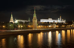 Moscow Kremlin at night Stock Photography