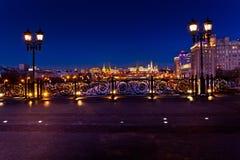 Moscow Kremlin night view Stock Photos