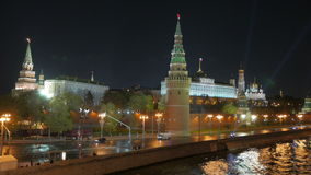 Moscow Kremlin. Night view. stock video
