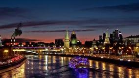 Moscow Kremlin night view stock footage