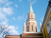 Moscow Kremlin Nikolskaya Tower May 2011 Royalty Free Stock Images