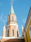 Moscow Kremlin Nikolskaya Tower  2011 Stock Photo